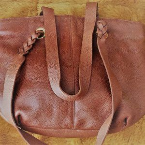 Saddle River Brown Leather Tote